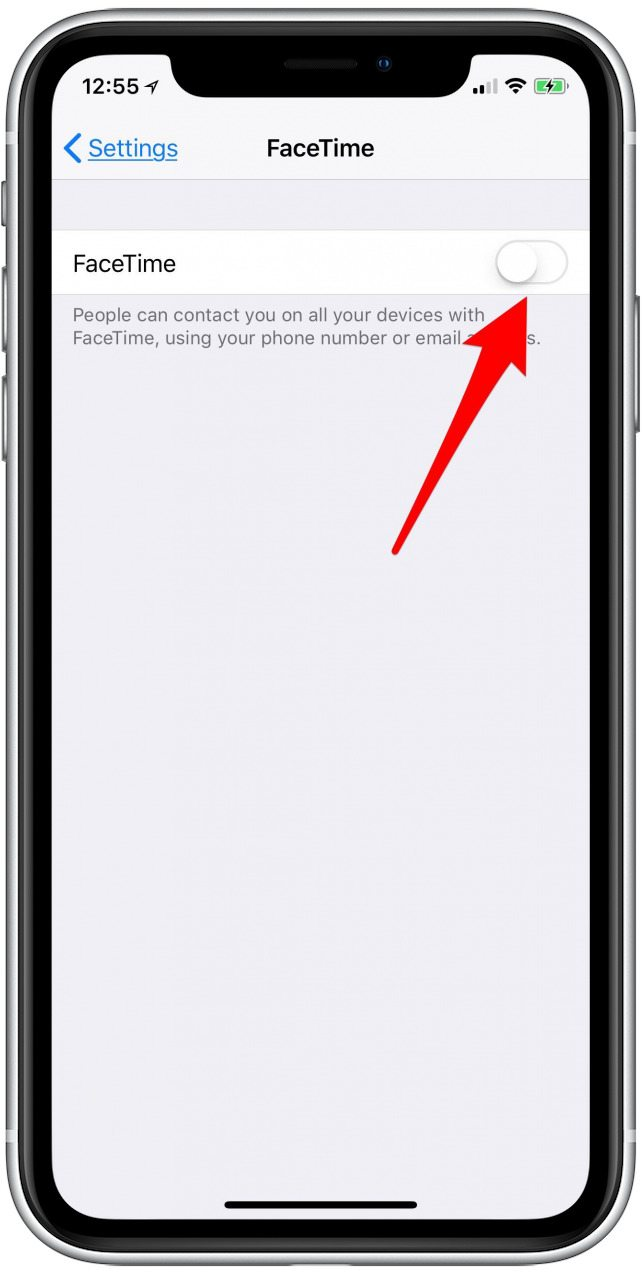 turn off facetime iphone
