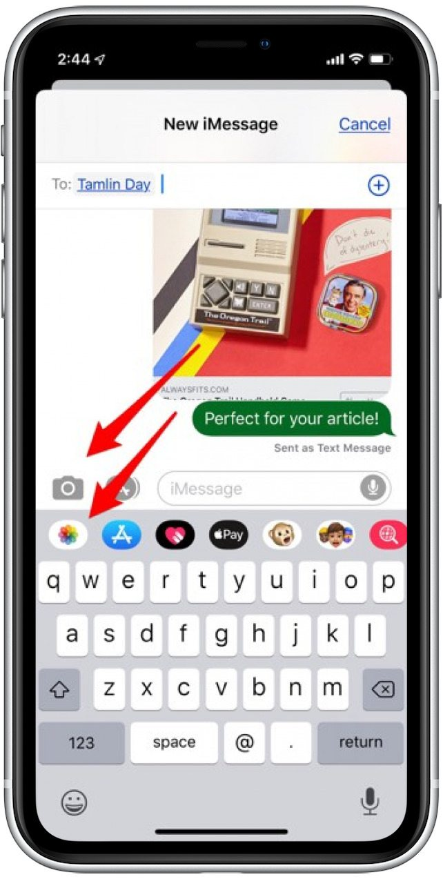 How Do I Send a Photo in a Text Message? | iPhoneLife com