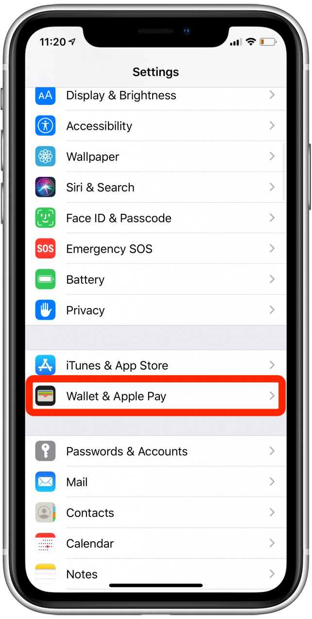 apple wallet iphone