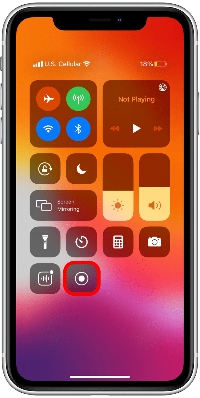 The screen capture shortcut is now in the Control Center