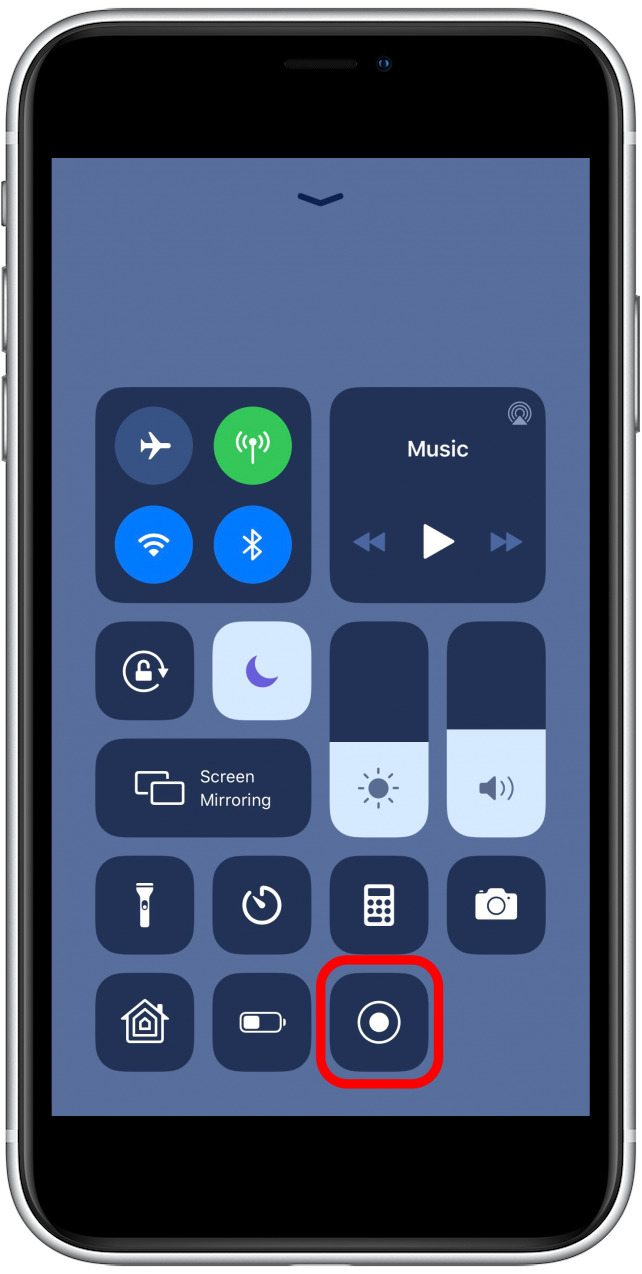 tap the capture icon to begin recording