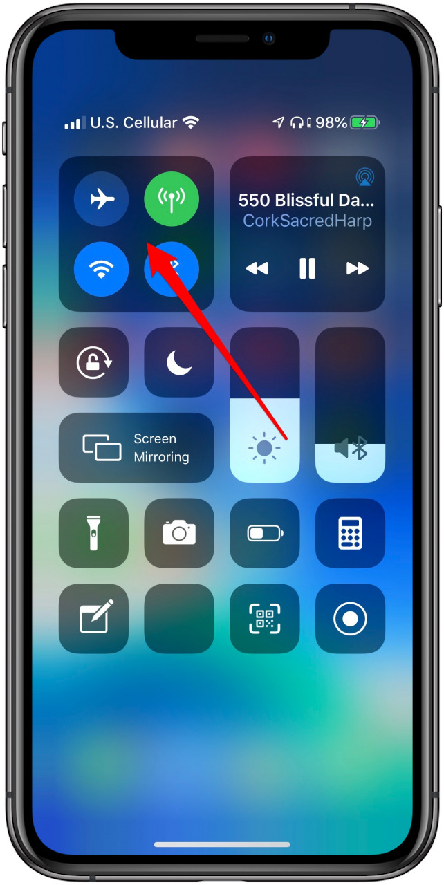 switch bluetooth devices in the control center
