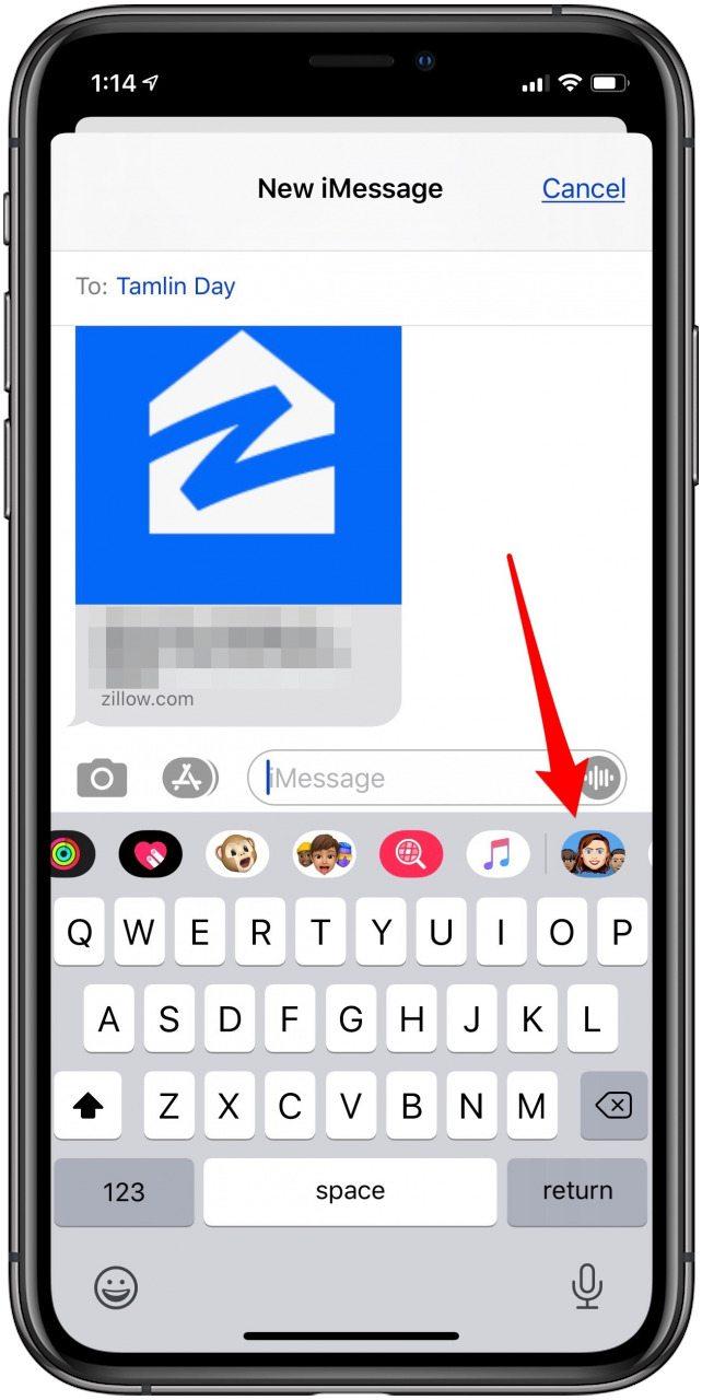 tap the emoji maker icon