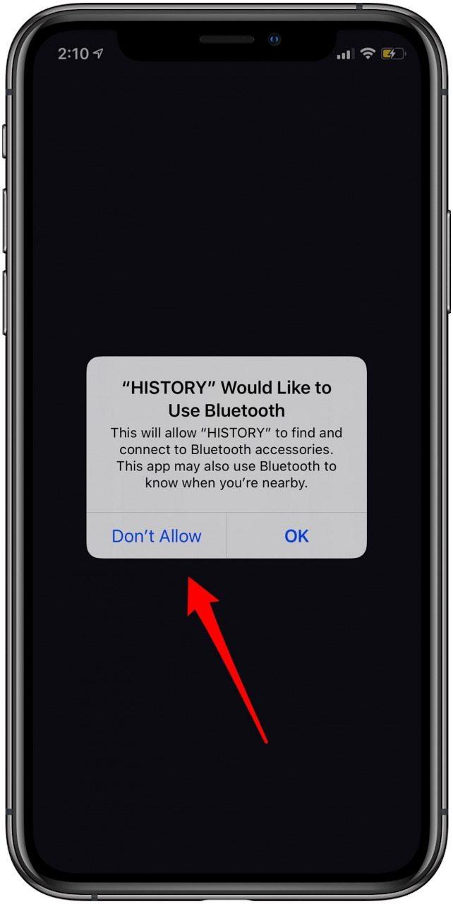 iOS 13 Bluetooth App Permissions