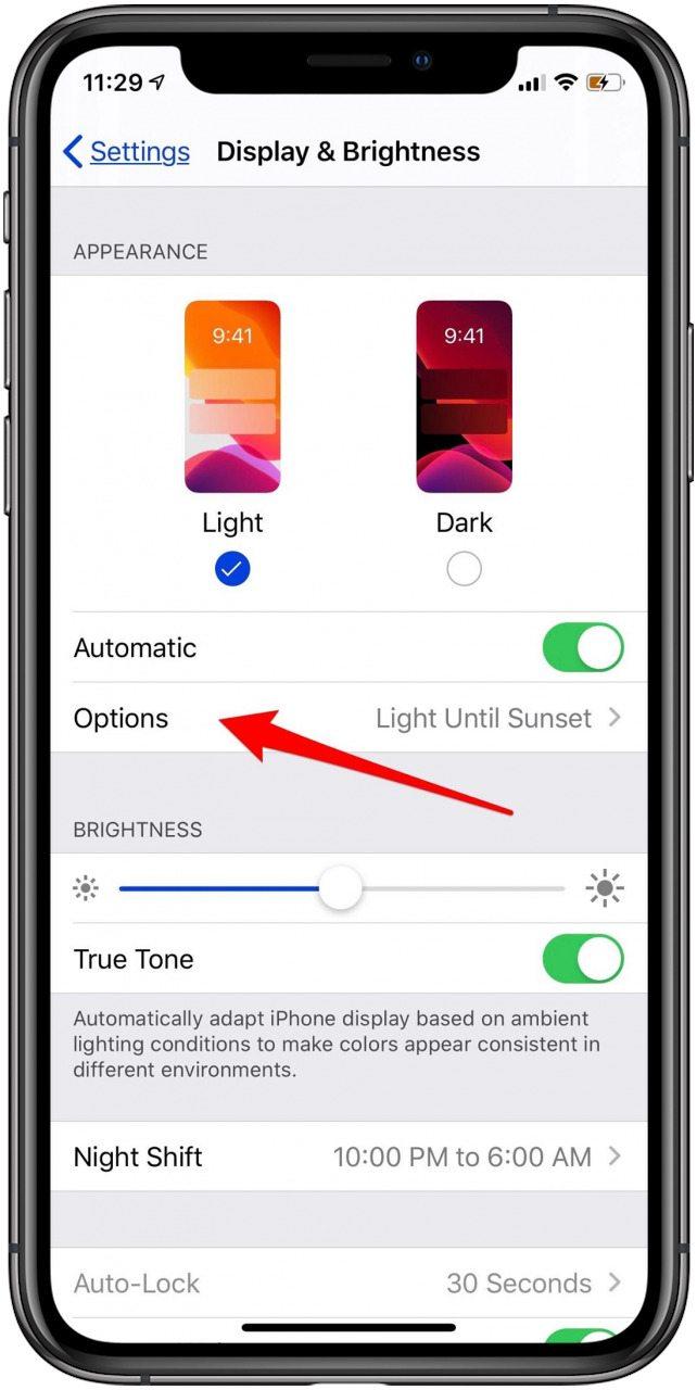 iOS 13 Dark Mode Schedule