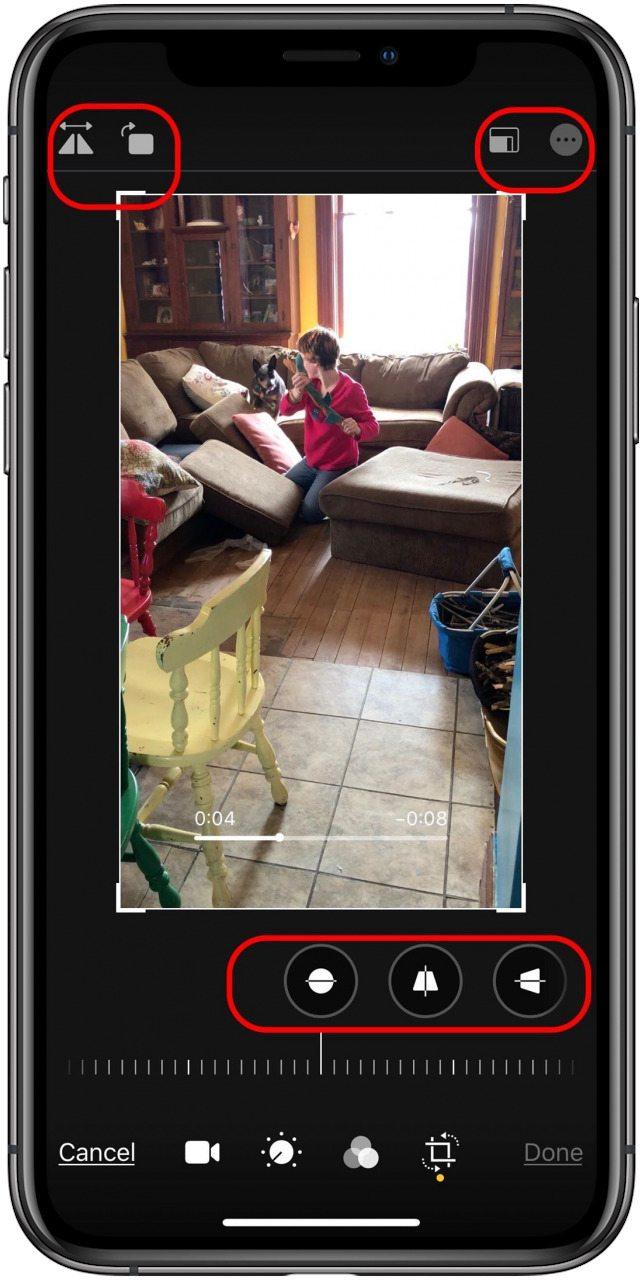 iOS 13 Rotate Videos