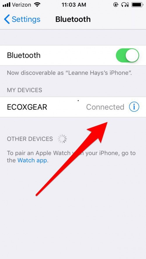 pair bluetooth device to iphone