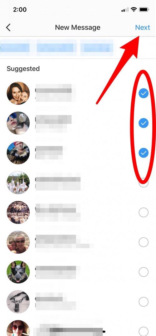 instagram group dm