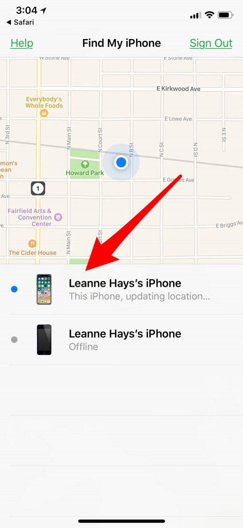 i cloud find my iphone