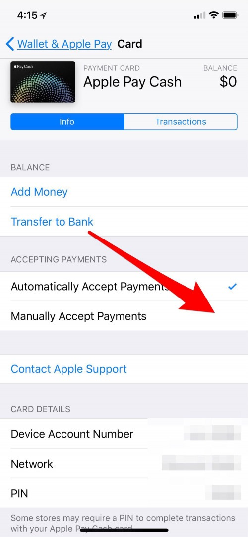 how to receive money through imessage