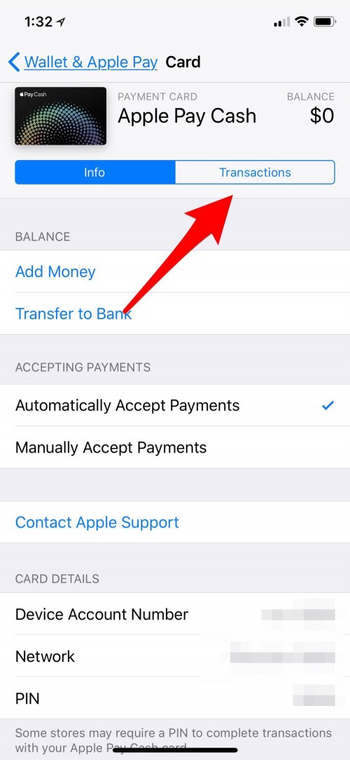 cancel an payment on iphone
