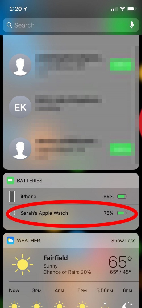 check apple watch battery