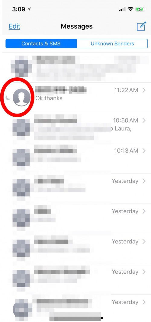 how to turn off read mode on messages