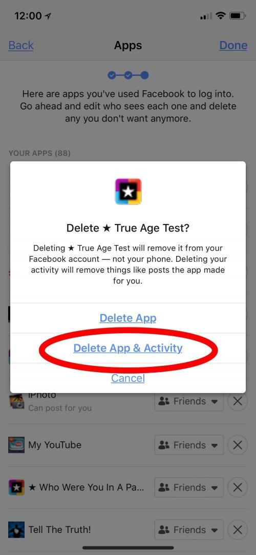How to delete facebook app