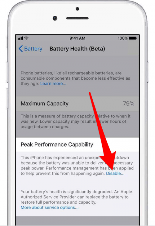 how to turn off iphone throttling