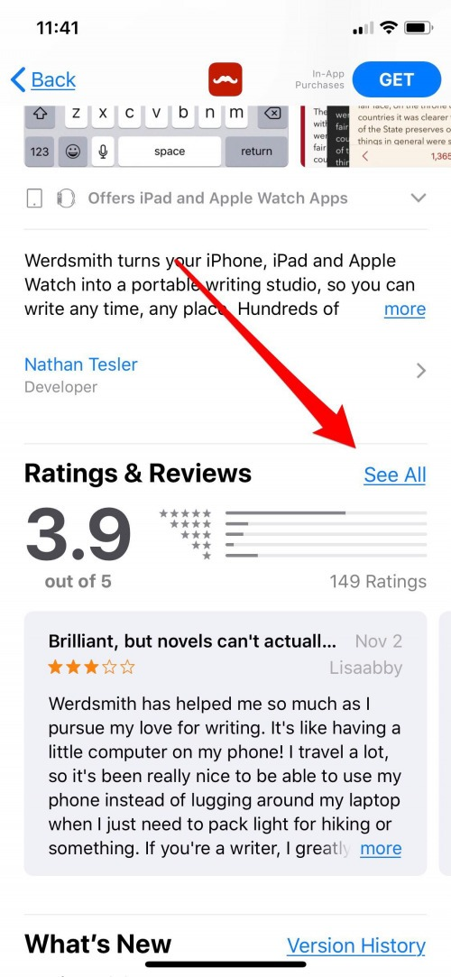find app reviews iphone