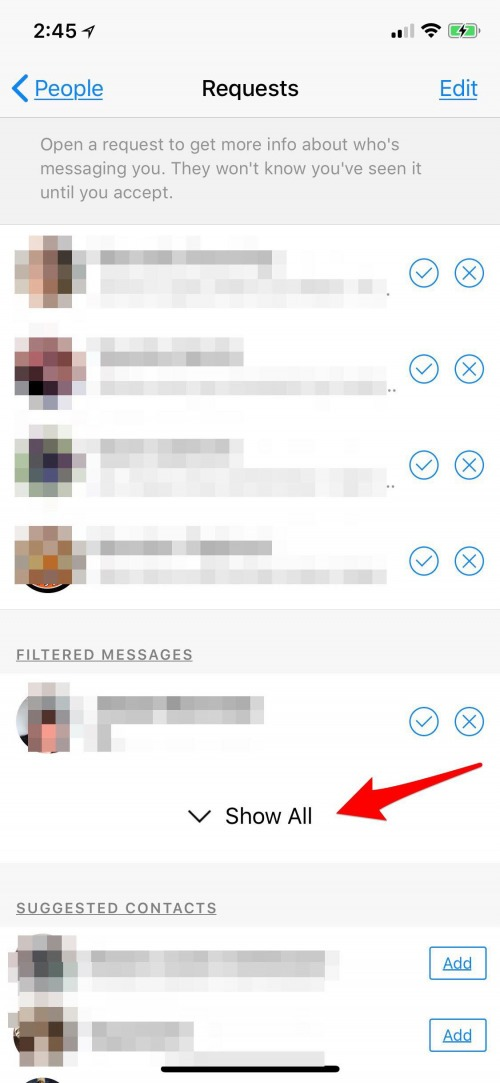 how to see archived messages on messenger app
