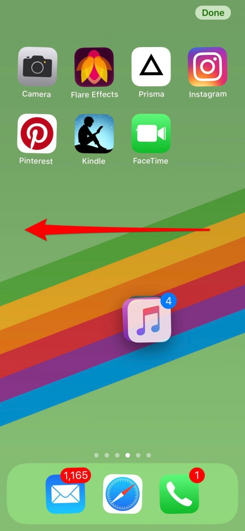 rearrange iphone icons