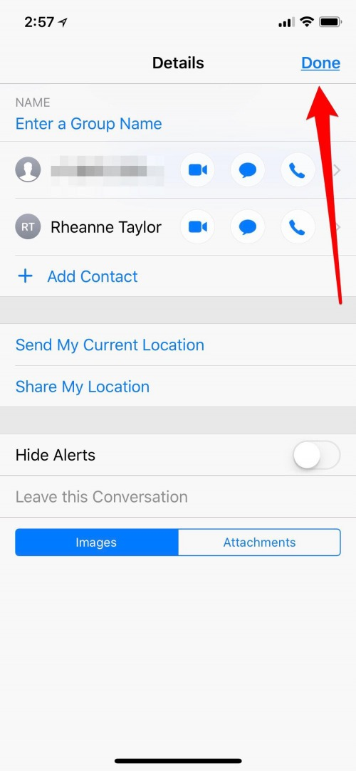 how to name a group chat on iphone
