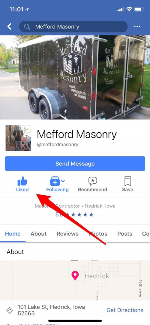 how to unlike pages on facebook with iphone
