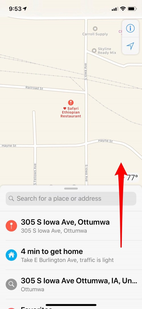 remove location from favorites apple maps