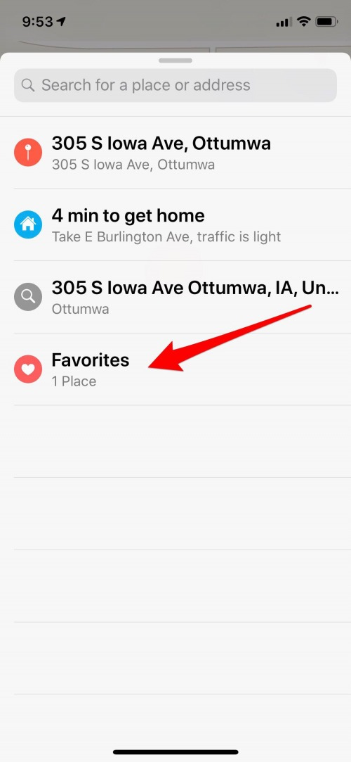 how to remove an address from favorites on iphone