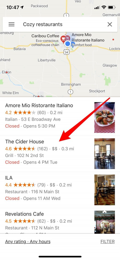 how to save a favorite to google maps iphone