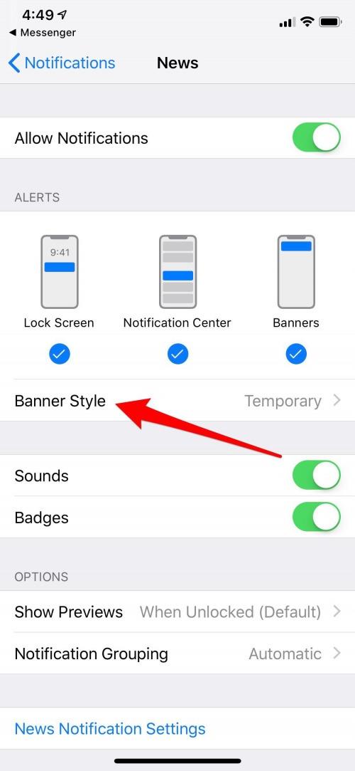 notifications ios 12