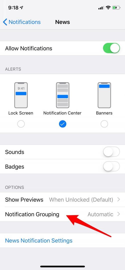 iphone notification center