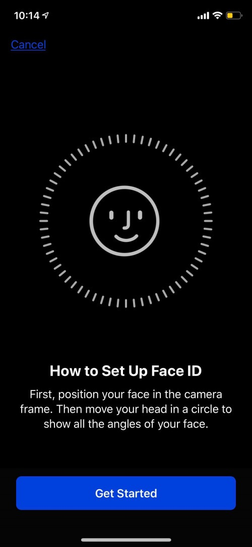 iphone face recognition