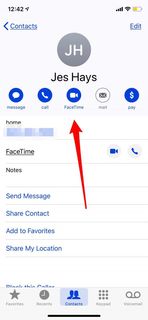 facetime screen share on iphone