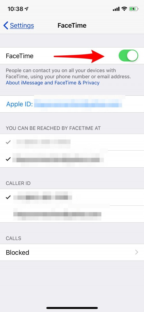 how to turn on facetime on iphone