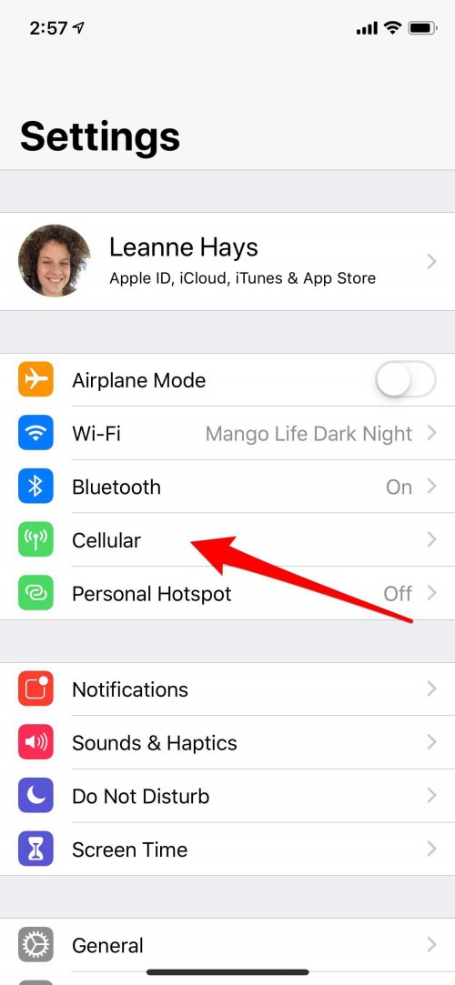 how to turn off data for apps