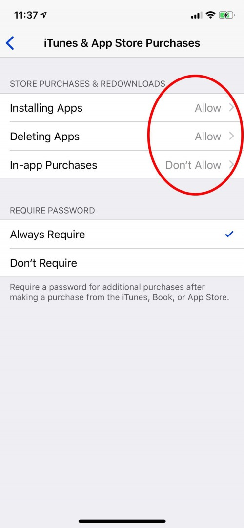 parental controls for app purchases