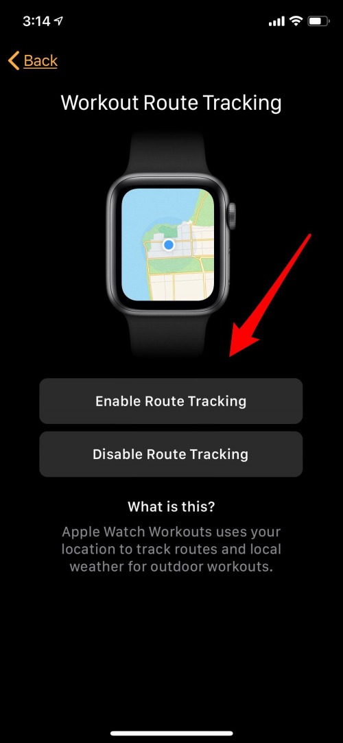 apple watch route tracking