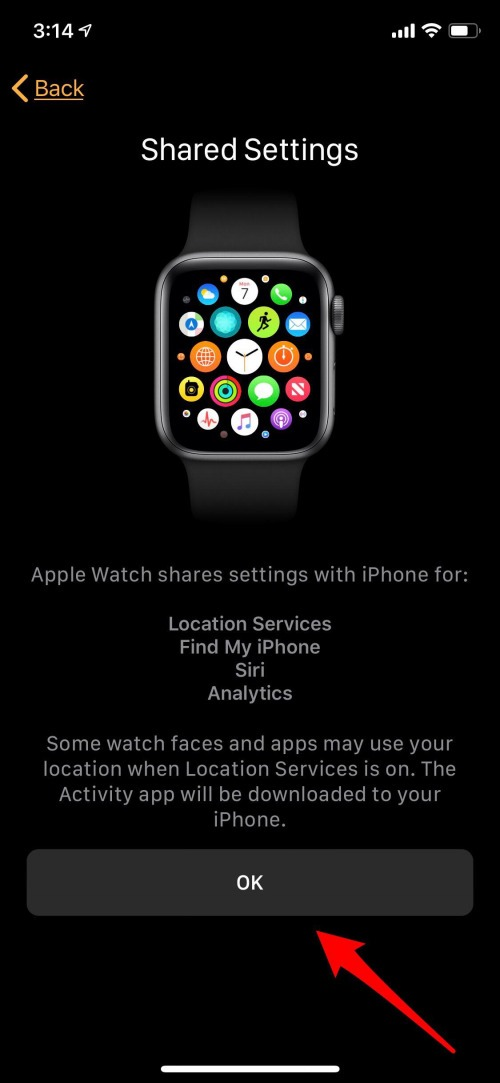 apple watch location services