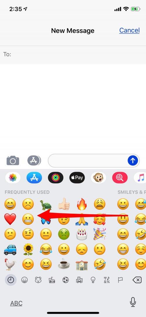 How to Find   Use the Emoji Keyboard on iPhone  3fa1b6852c