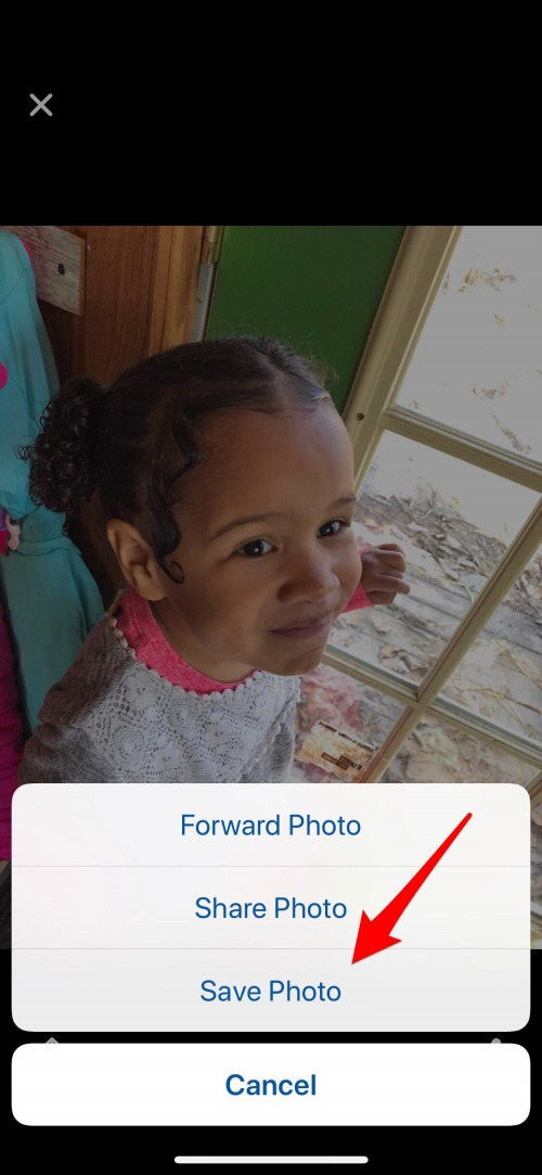 how to save a photo from messenger