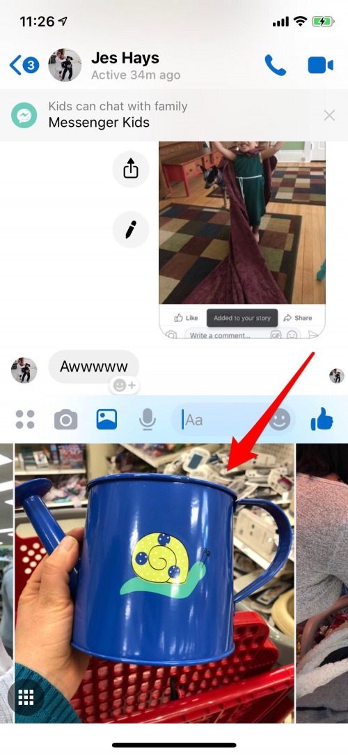 send videos with messenger