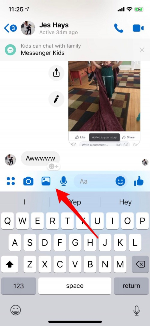 send photos with messenger