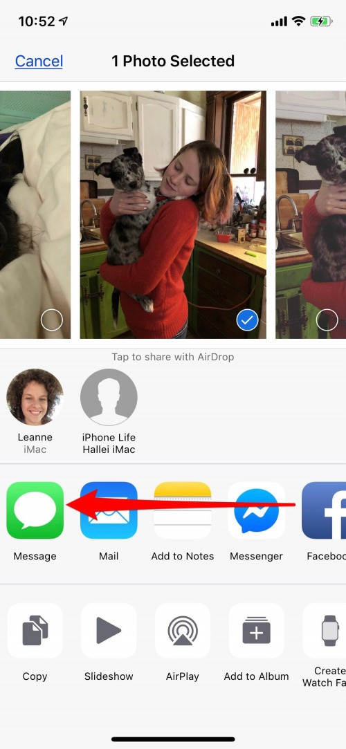how to add a photo to a shared album on iphone