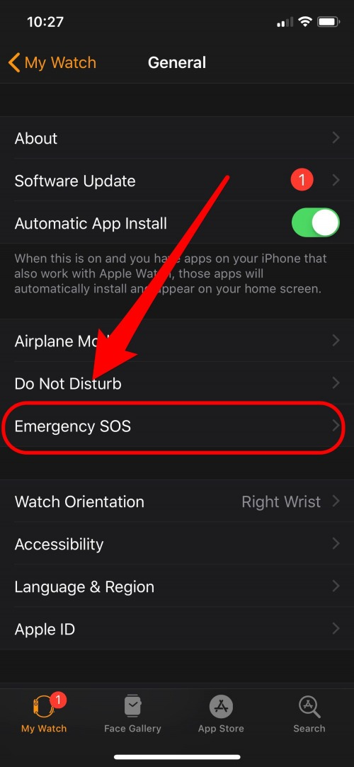 emergency sos apple watch