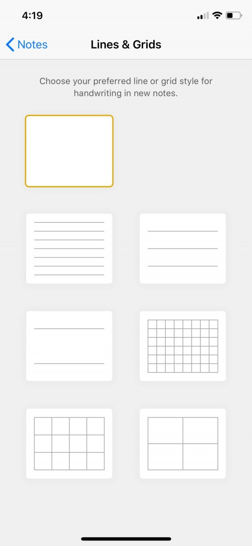 How to Change the Paper Style in Notes on the iPhone