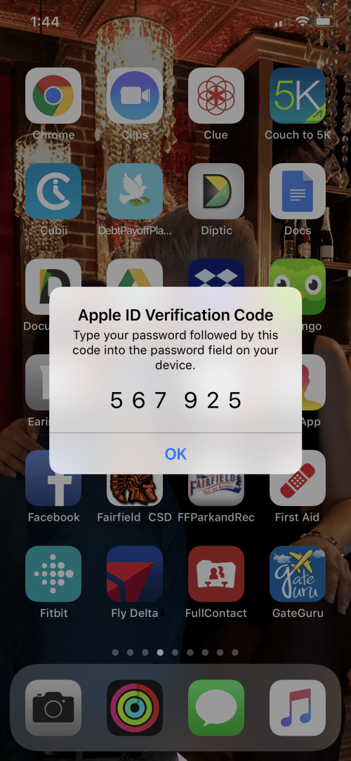two factor authentication iphone