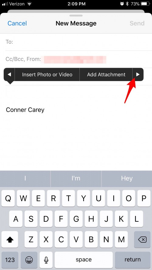 How to Insert a Drawing into an Email with iOS 11 on iPhone