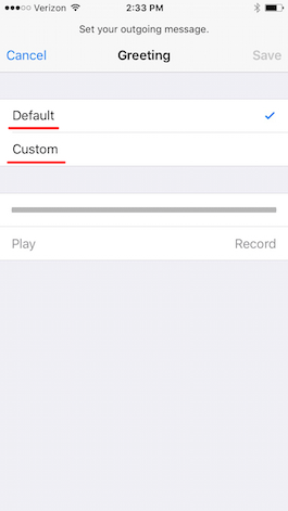 How to record a voicemail message on iphone iphonelife verizon voicemail m4hsunfo