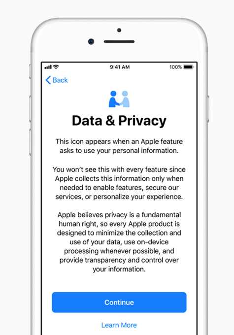 ios 11.3 privacy and security
