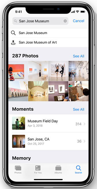 search photos ios 12