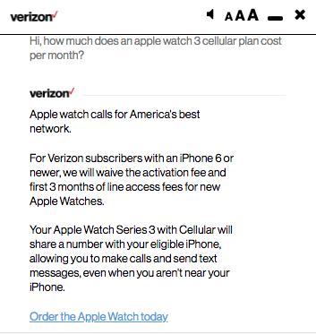 verizon apple watch