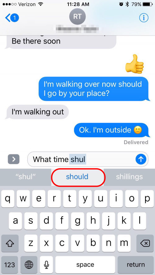 how to save words on iphone
